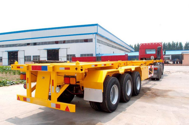 Shipping Container Chassis Trailer For Sale By High