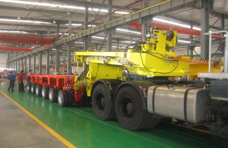 hydraulic axles modular trailer