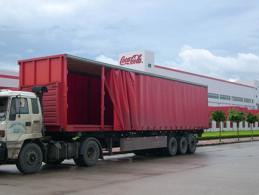 Trucking  panies Curtain Side Trailers on flatbed semi trailers for lease