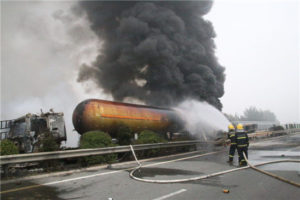 tank trailer accident