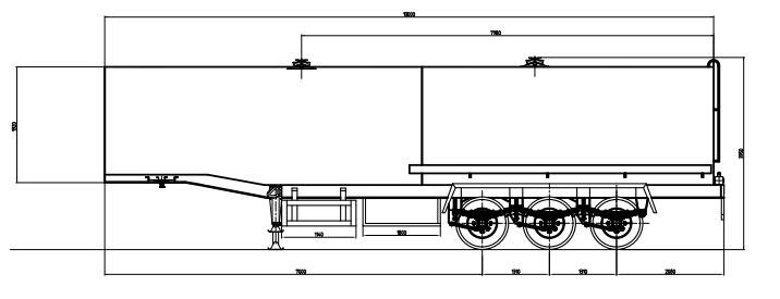 oil tank trailer drawing