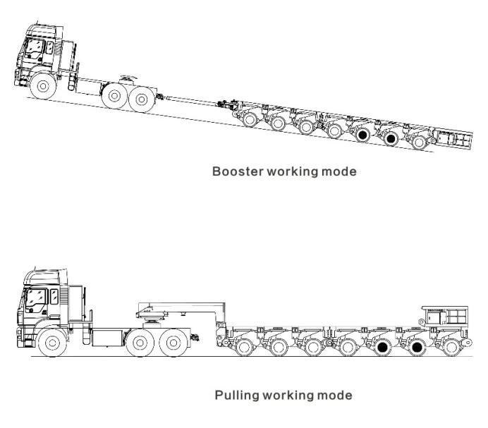 pulling modular trailer