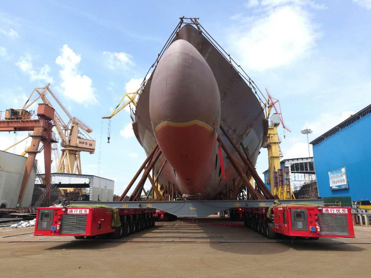 spmt for shipbuilding