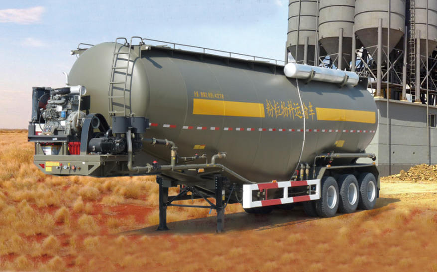 How Dry Bulk Cement Tanker / Pneumatic Trailer Works