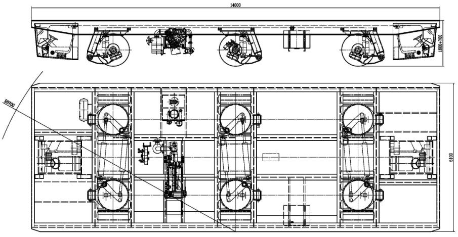 material handling transporter drawing