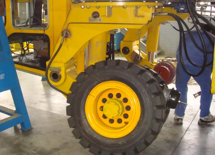 steel handling transporter tire