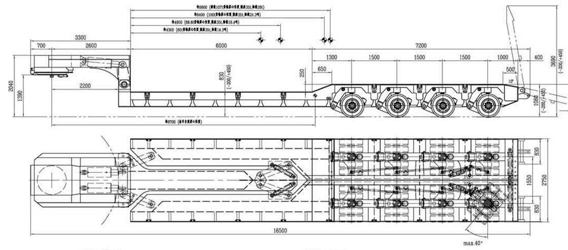 widening trailer steering system